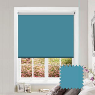 Blue Roller Blind - Bahamas Pale Turqoise